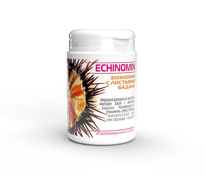 Эхиномин (Echinomin) — продукт из морских ежей с листьями бадана.